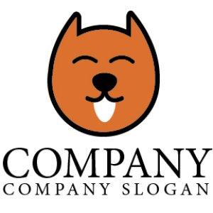 画像1: 犬・舌・笑顔・動物・ロゴ・マークデザイン055