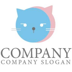 画像1: 猫・吹き出し・顔・ロゴ・マークデザイン229