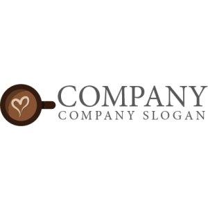 画像2: カップ・コーヒー・ハート・love・ロゴ・マークデザイン034