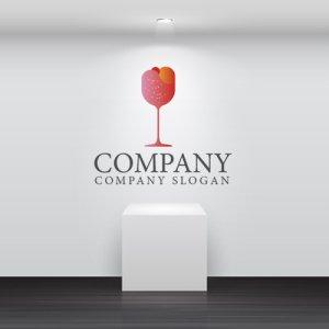 画像2: カクテル・グラス・アイス・ロゴ・マークデザイン035