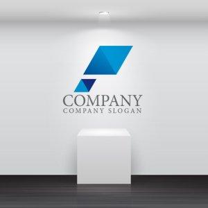 画像2: P・ 三角・ひし形・アルファベット・グラデーション・ロゴ・マークデザイン1882