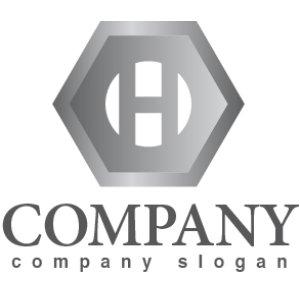 画像1: H・ナット・六角形・アルファベット・ロゴ・マークデザイン2195