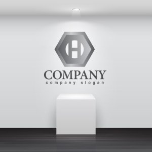 画像2: H・ナット・六角形・アルファベット・ロゴ・マークデザイン2195