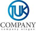 K・T・輪・U・線・アルファベット・グラデーション・ロゴ・マークデザイン2217