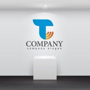 画像2: T・太陽・輪・広がり・アルファベット・ロゴ・マークデザイン2264