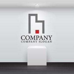画像2: h・ビル・線・アルファベット・ロゴ・マークデザイン2331