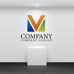 画像2: M・三角・V・アルファベット・グラデーション・ロゴ・マークデザイン2365