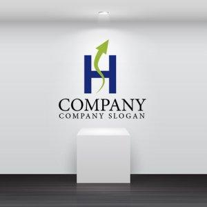 画像2: H・矢印・S・アルファベット・上昇・ロゴ・マークデザイン2441
