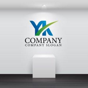 画像2: Y・K・曲線・アルファベット・グラデーション・ロゴ・マークデザイン2473