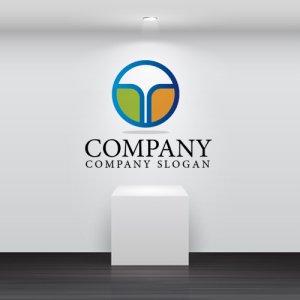 画像2: T・輪・道・噴水・アルファベット・グラデーション・ロゴ・マークデザイン2511