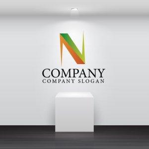 画像2: N・対称・アルファベット・グラデーション・ロゴ・マークデザイン2523