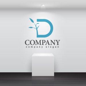 画像2: D・葉・成長・木・アルファベット・ロゴ・マークデザイン2560
