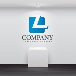 画像2: L・四角・シンプル・グラデーション・アルファベット・ロゴ・マークデザイン2576