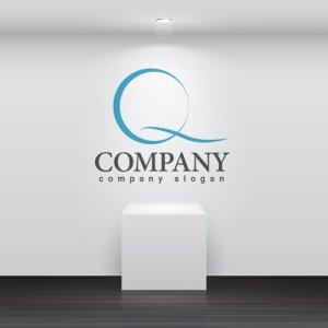 画像2: Q・輪・シンプル・曲線・アルファベット・ロゴ・マークデザイン2587