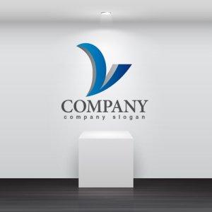 画像2: V・曲線・シンプル・上昇・アルファベット・グラデーション・ロゴ・マークデザイン2597