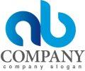 a・b・輪・シンプル・アルファベット・グラデーション・ロゴ・マークデザイン2639