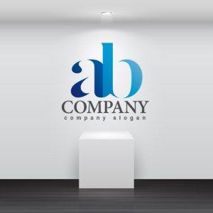 画像2: a・b・シンプル・アルファベット・グラデーション・ロゴ・マークデザイン2642