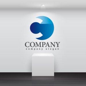 画像2: C・輪・移動・シンプル・アルファベット・グラデーション・ロゴ・マークデザイン2664