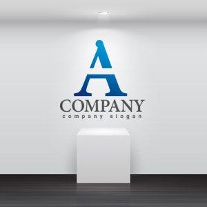 画像2: A・シンプル・アルファベット・グラデーション・ロゴ・マークデザイン004