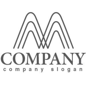 画像1: M・線・山・拡大・アルファベット・ロゴ・マークデザイン2740