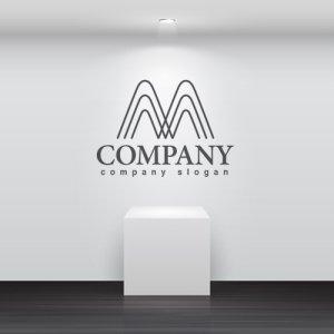 画像2: M・線・山・拡大・アルファベット・ロゴ・マークデザイン2740