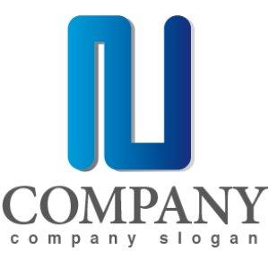 画像1: N・線・管・アルファベット・グラデーション・ロゴ・マークデザイン2761