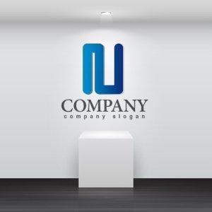画像2: N・線・管・アルファベット・グラデーション・ロゴ・マークデザイン2761
