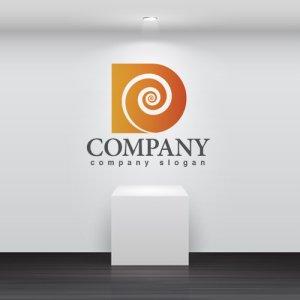 画像2: D・貝・渦・曲線・グラデーション・アルファベット・ロゴ・マークデザイン2772