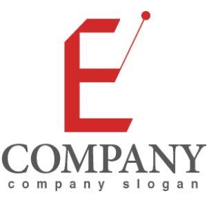 画像1: E ・指揮・魔法の杖・アルファベット・ロゴ・マークデザイン2780