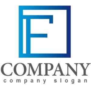 画像1: F・四角・枠・アルファベット・グラデーション・ロゴ・マークデザイン2784