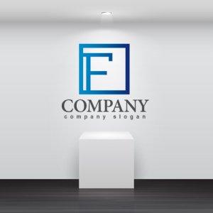 画像2: F・四角・枠・アルファベット・グラデーション・ロゴ・マークデザイン2784