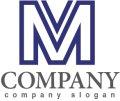 M・V・線・アルファベット・ロゴ・マークデザイン2829
