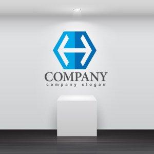 画像2: H・六角形・矢印・アルファベット・ロゴ・マークデザイン2850