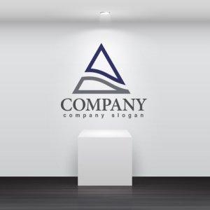 画像2: A・三角・波・アルファベット・ロゴ・マークデザイン2851