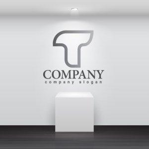 画像2: T・線・グラデーション・アルファベット・ロゴ・マークデザイン2921