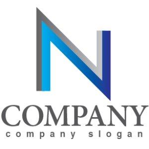 画像1: N・シンプル・アルファベット・グラデーション・ロゴ・マークデザイン2929