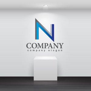 画像2: N・シンプル・アルファベット・グラデーション・ロゴ・マークデザイン2929