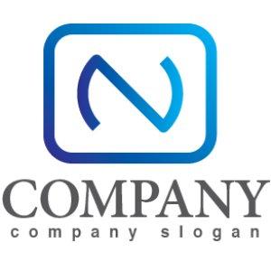 画像1: N・wifi・広がり・アルファベット・グラデーション・ロゴ・マークデザイン2933
