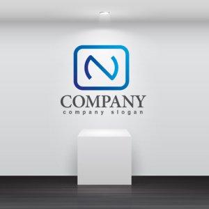 画像2: N・wifi・広がり・アルファベット・グラデーション・ロゴ・マークデザイン2933