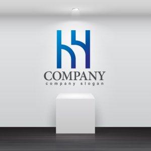 画像2: H・線・h・アルファベット・グラデーション・ロゴ・マークデザイン2952