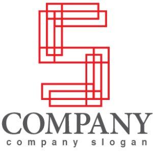 画像1: S・格子・線・骨組み・アルファベット・ロゴ・マークデザイン2977