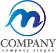 画像1: m・輪・曲線・アルファベット・グラデーション・ロゴ・マークデザイン2995 (1)