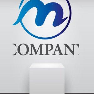 画像2: m・輪・曲線・アルファベット・グラデーション・ロゴ・マークデザイン2995
