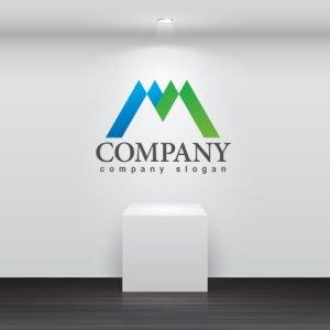 画像2: M・三角・山・アルファベット・ロゴ・マークデザイン3000