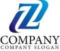 Z・曲線・アルファベット・グラデーション・ロゴ・マークデザイン3035