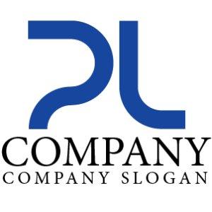画像1: P・L・線・シンプル・アルファベット・ロゴ・マークデザイン3058
