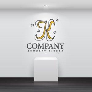 画像2: K・フリーハンド・輝き・アルファベット・ロゴ・マークデザイン3064