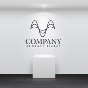画像2: M・曲線・アルファベット・ロゴ・マークデザイン3365