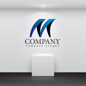 画像2: M・曲線・波・グラデーション・ロゴ・マークデザイン3368