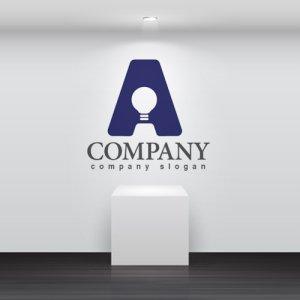 画像2: A・電球・ひらめき・アルファベット・ロゴ・マークデザイン3379